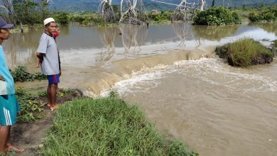 Photo of Ratusan Hektar Tambak Warga Desa Bega Terendam Banjir