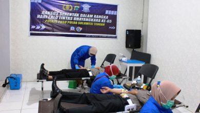Photo of HUT Ke 65, Sat Lantas Polres Poso Gelar Donor Darah