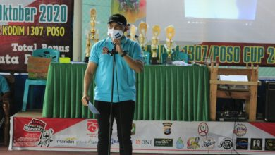 Photo of Dandim 1307/Poso Buka Turnamen Futsal